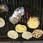 Some delicious creations on the grill!