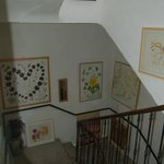 The central staircase hung