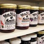 Shop Batar features many of Mrs. Miller's jams and jellies unusual flavors like Dandelion and Bu