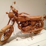 Motorcycle out of wood