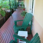 Verandah Outside Our Room with Adirondack Chairs