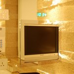 Bathroom tv & clock