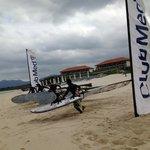 windsurfing Kabira beach