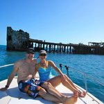 20 minute boat ride from resort for snorkeling at sunken boat
