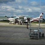 The plane to San Pedro