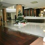 Lobby with Xmas tree