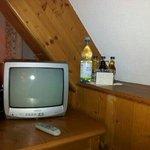Minibar met flatscreen tv