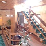 Hotel is decorative with wooden finish and stylish furniture