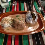 Delicious Argentinian Fillet Peppersteak. Ask for it well done if you're squeamish about red mea