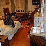 la chambre avec un espace boisson chaude