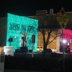 Xmas lights downtown OK City