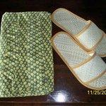 kimono and slippers