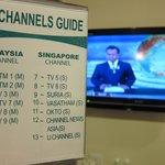 テレビはマレーシアのチャンネルとシンガポールのチャンネルが映ります。
