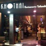 The exterior of the Sukhothai restaurant