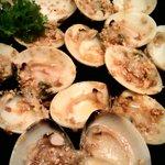 Garlic butter clams.. Yummy!