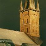 Seltene fünfschiffige Hallenkirche, heute als Kultur-Kirche genutzt mit Aussichtsplattform