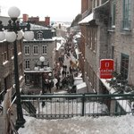Rue Petit Chamlain from the top of the stairs.