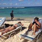 Afslapning på stranden