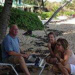 Jim, Ilse og Heidi på stranden