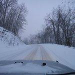 Road Heading to Snowhoe Ski Resort - 6pm