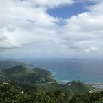 View of Tortola S shore from Mt Sage