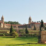 view of the Union Buildings across the road from the hotel