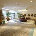 nicely decorated lobby