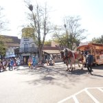 The Solvang Trolley Parading on Danish Days
