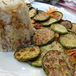 Simple vegetable meal.