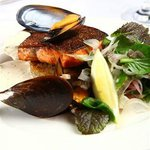 Grilled Trout with Mussle Veloute