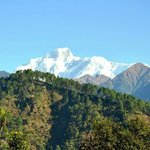 view of Trishul from our cottage