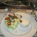 Wedge salad from room service