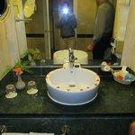 baño y bienvenida
