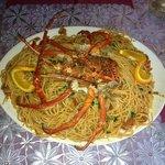 spaghetti w lobster