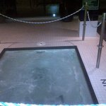 The jacuzzi! Hot! Perfect!