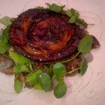 Caramalised shallot and truffle tart