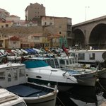 Le port du vallon des Auffes vu de Chez Jeannot