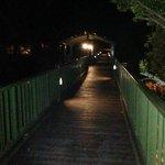 little bridge over the fish pond