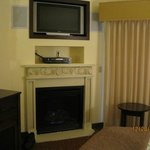 fireplace and flat panel tv