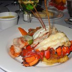 Private dinner on beach Lobster