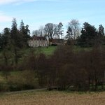 The house seen from across the valley