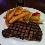 Ribeye Steak with Fries and Seasonal Veggies