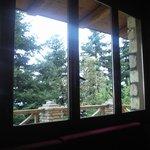 Θέα απο το παράθυρο στο τζάκι