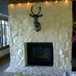 One of the Lobby Fireplaces