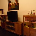 TV and DVD player are available in every room