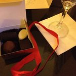 wine & choccies on arrival!