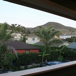 View from back of motel