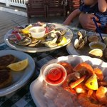 food is yummy on the sun deck!