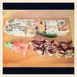 Oh, yummy our rolls and eel have arrived :)