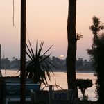 sunset in Luxor